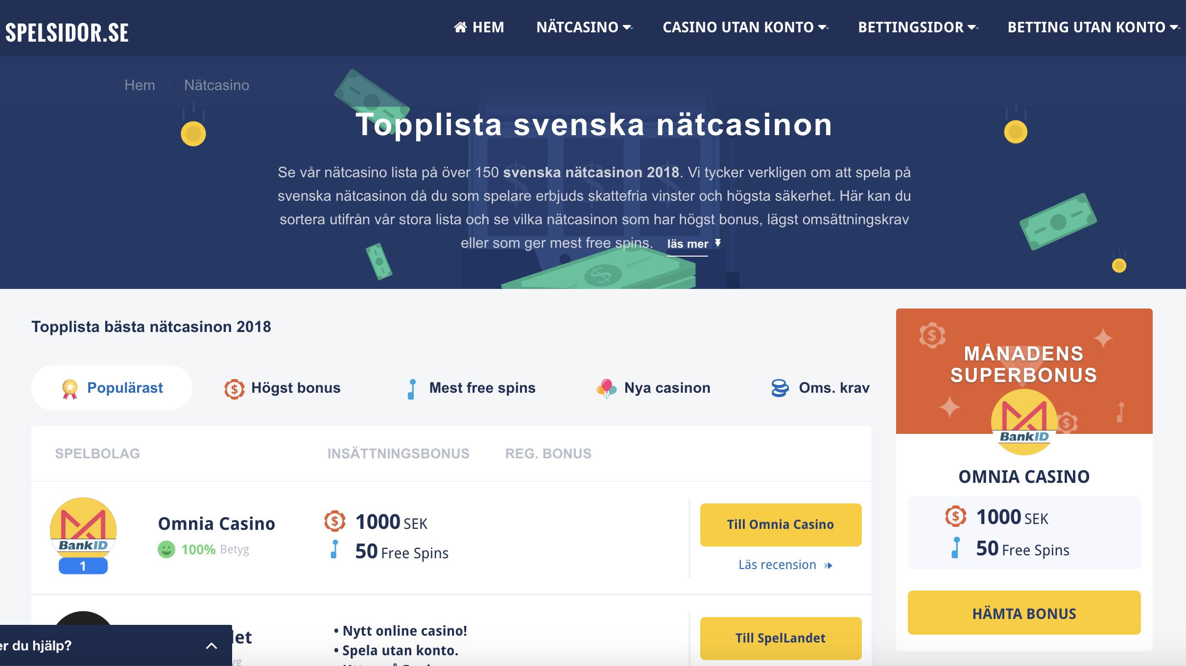 Nätcasino bankid - 54175
