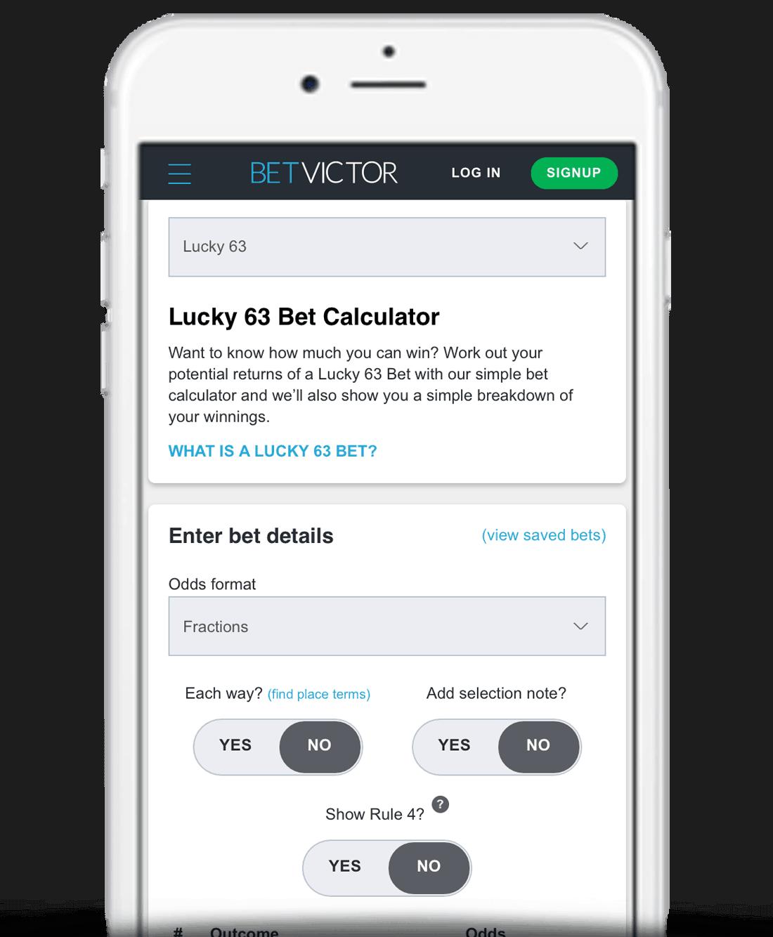 Bet calculator Lucky - 26551