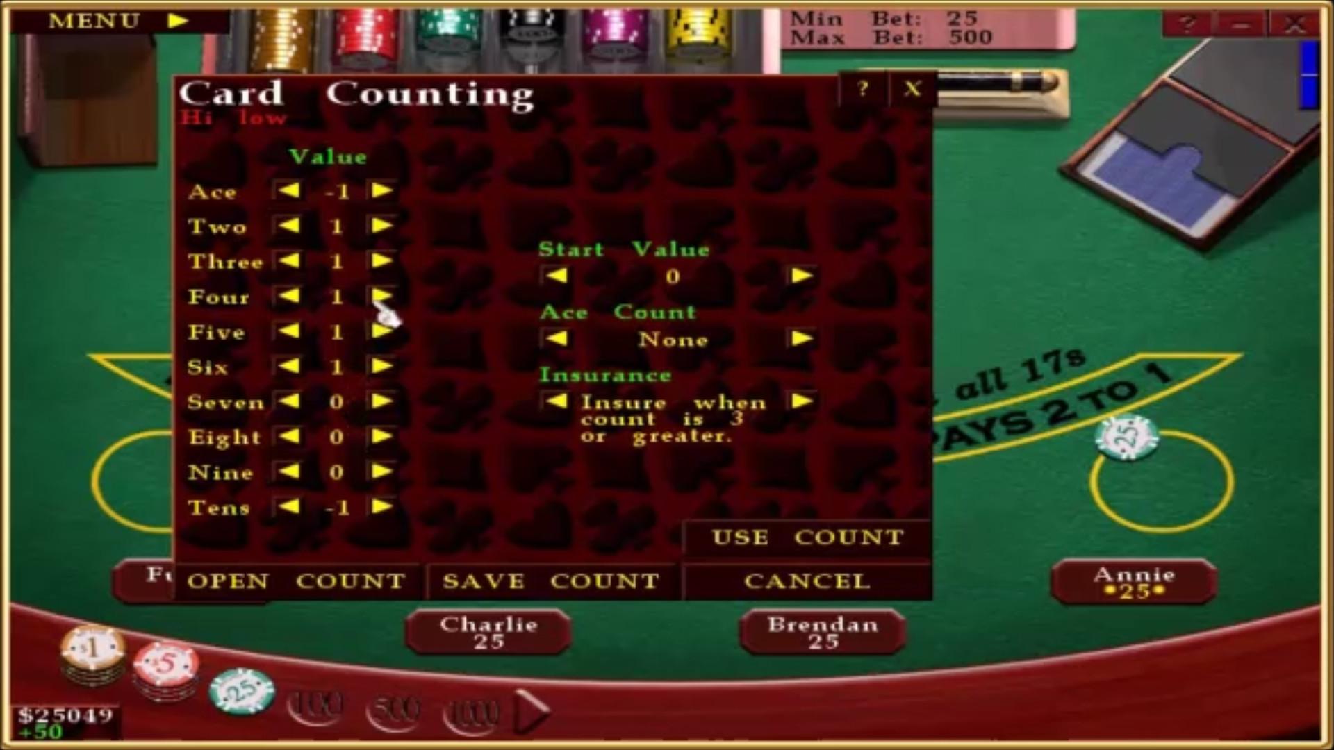 Blackjack counting - 82020
