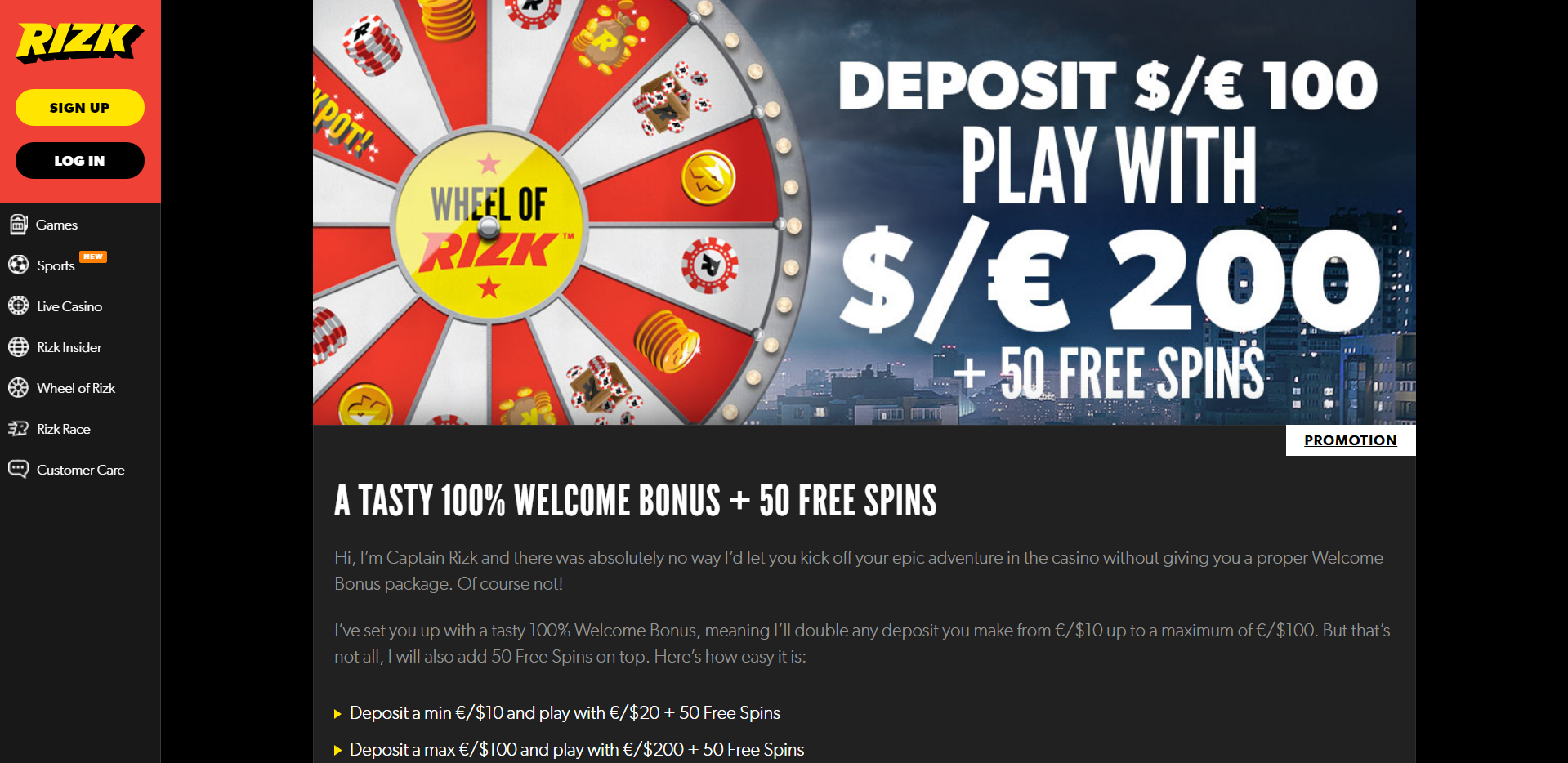 Rizk Free spins - 31465