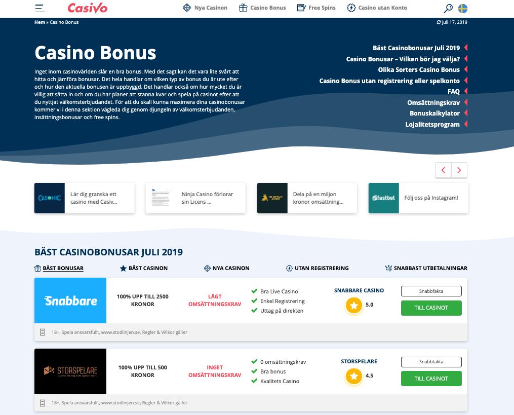 Casino utan omsättningskrav - 90522