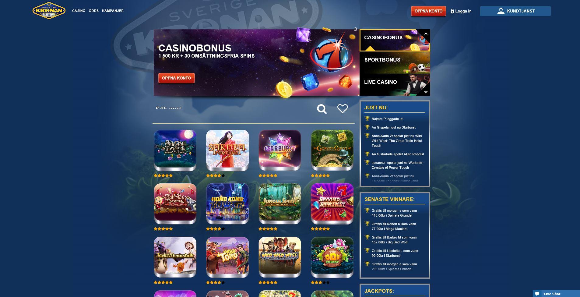 Insättningsfria freespins casinot - 70020